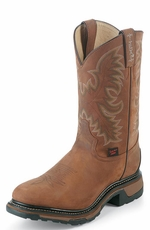 "Tony Lama Men's 11"" TLX Western Work Boots - Tan Cheyenne"