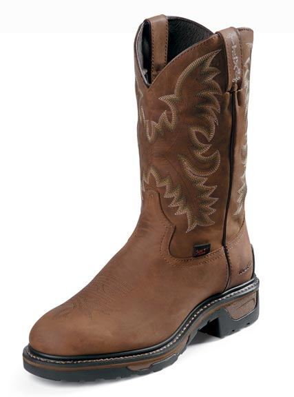 "Tony Lama Men's 11"" Waterproof TLX Western Work Boots - Tan Cheyenne"