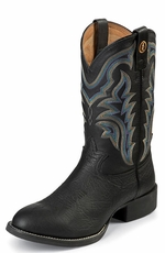 "Tony Lama Men's 3R 11"" Black Shoulder Grain Cowboy Boots - Black Baron Calf"