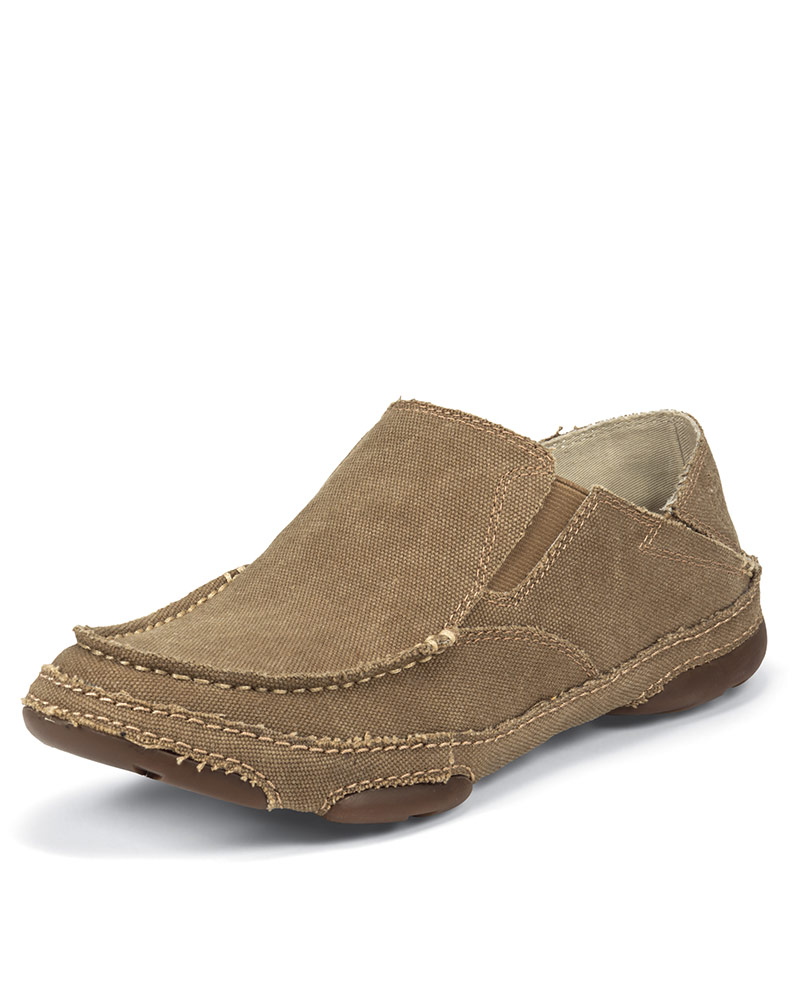Tony Lama Men S Canvas Slip On Shoe Winter Wheat