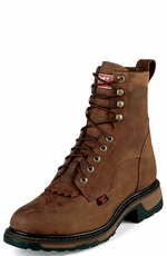 Tony Lama Men's TLX Western Steel Toe Work Boots - Tan Cheyenne