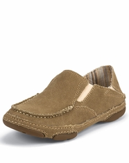 Tony Lama Women's Canvas Slip-on Shoe - Winter Wheat