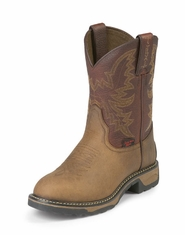 "Tony Lama Youth 8"" TLX Tan Crazy Horse/Briar Pitstop Boots"