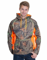 Trail Crest Men's Soft Shell Hoody - Neon Orange/Camo (Closeout)