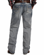 Tuf Cooper Men's Competition Fit Mid Rise Relaxed Fit Straight Leg Jeans - Light Wash