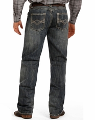 Tuf Cooper Men's Competition Fit Mid Rise Relaxed Fit Straight Leg Jeans - Medium Wash
