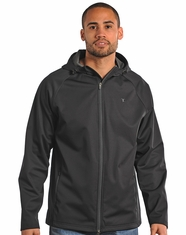 Tuf Cooper Men's Hooded Zippered Jacket - Black (Closeout)