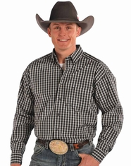 Tuf Cooper Men's Long Sleeve Competition Fit Button Down Shirt-Grey