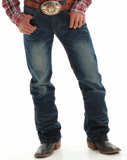B. Tuff Mens Kirk Relaxed Fit Boot Cut Jeans - Dark Wash