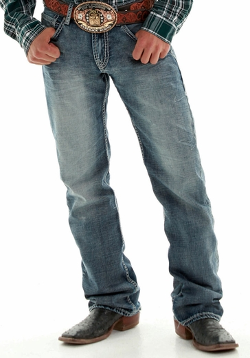 B. Tuff Men's Steel Relaxed Fit Boot Cut Jeans - Medium Wash