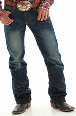 B. Tuff Mens Kirk Relaxed Fit Boot Cut Jeans - Dark Wash (Closeout)