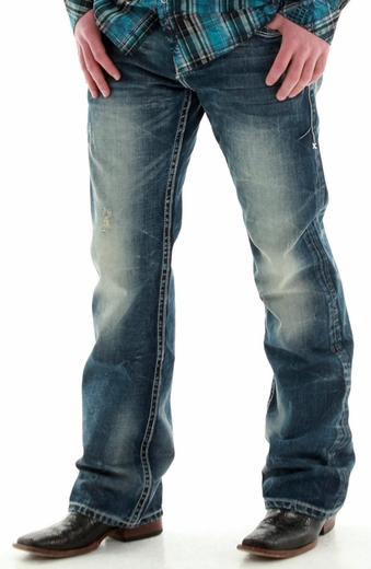 B. Tuff Mens Torque Relaxed Fit Boot Cut Jeans - Dark Wash