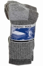 Weinberg Hosiery Mens 3 Pack Heathered Merino Wool Socks