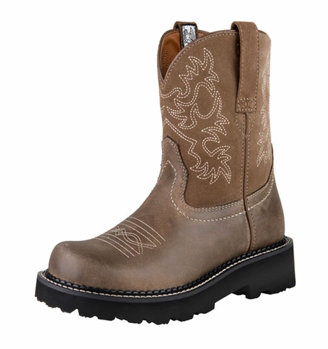 Ariat Womens Fatbaby Cowboy Boots - Brown Bomber