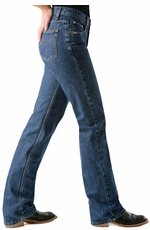 Women's Cruel Girl Slim Fit Low Rise Jeans - Dark Stonewash