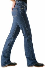 Women's Cruel Girl Slim Fit Low Rise Jeans - Dark Stonewash (Closeout)