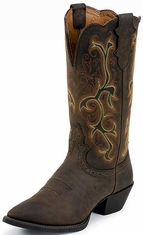 "Women's Justin 12"" Sorrel Apache Narrow Boots"