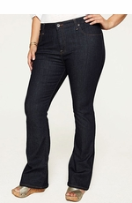 Women's Lucky Brand Plus Size Ginger Boot Cut Jeans - Dark Sierra