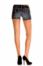 Women's Miss Me Basic Flap Pocket Shorts - MK 165 (Closeout)