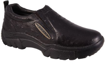 Women's Roper Sport Slip On Shoes (Clogs) - Black Ostrich