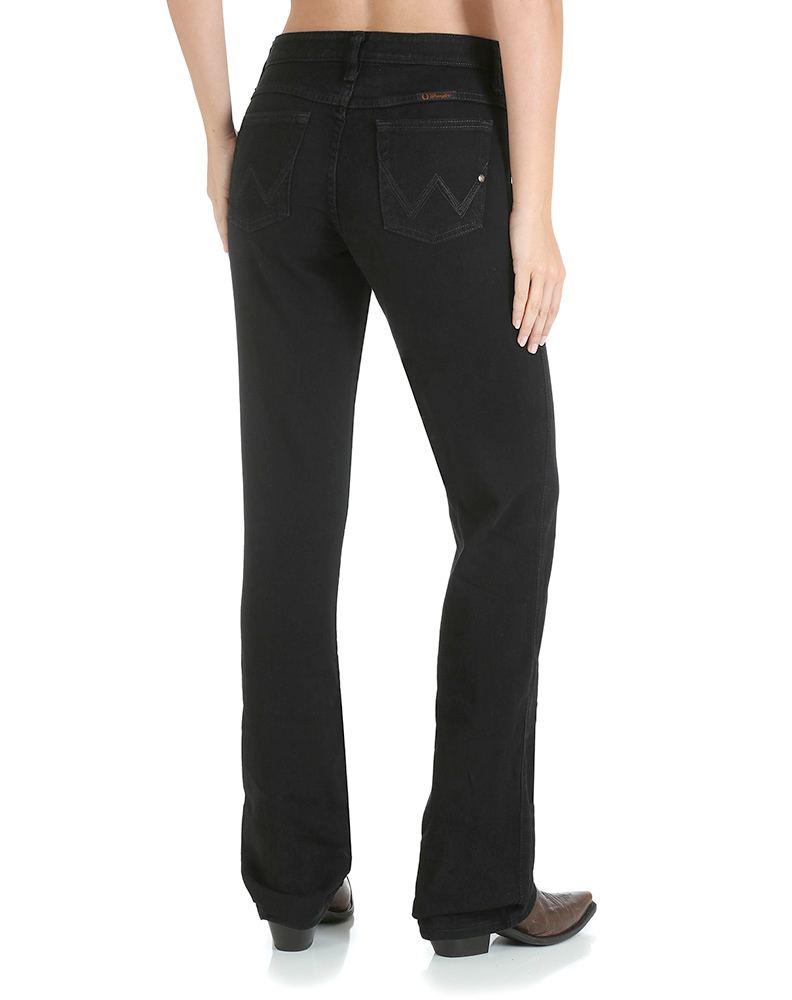 Women's Wrangler Q-Baby Jeans - Black Magic