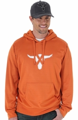 Wrangler 20X Mens Drawstring Hoodie - Orange (Closeout)