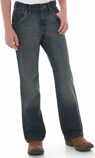 Wrangler Boy's Retro� Relaxed Boot Cut Western Jeans - Night Sky (Closeout)