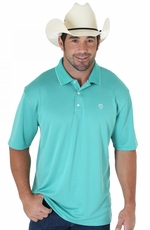 Wrangler George Strait Mens Short Sleeve Polo Shirt - Green