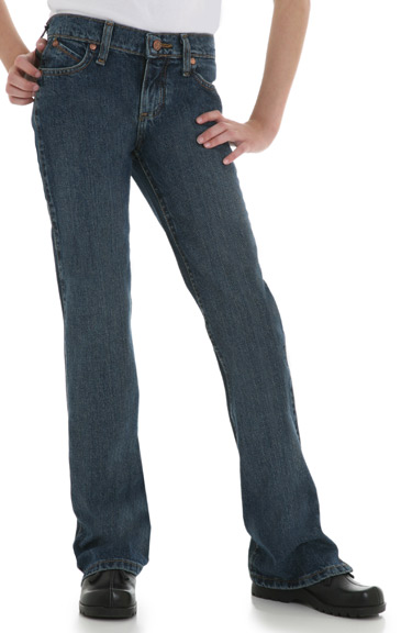 "Wrangler Girl's ""Cash"" Cowgirl Cut Ultimate Riding Jeans - American Spirit (Sizes 7-14)"