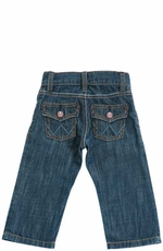 Wrangler Girl's Flap Pocket Infant Jeans - Dark Indigo (Closeout)