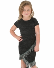 Wrangler Girl's Fringe Dress - Heathered Black
