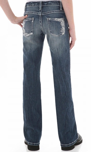Wrangler Girl's Rock 47 Western Contemporary Jeans - Class Act (Closeout)