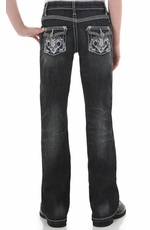 Wrangler Girl's Rock 47 Western Contemporary Jeans - Vintage Girl (Closeout)