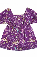 Wrangler Girls Western Print Dress - Purple