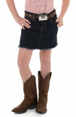 Wrangler Girls Western Skirt - Dark Denim