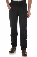 Wrangler Men's 00095 Riata Pleated Front Casual Pants - Navy