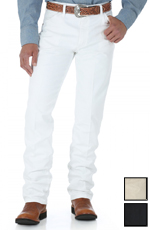 Wrangler Men's 13MWZ Cowboy Cut Original Fit Jeans - White, Black or Tan