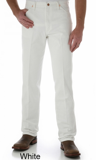 Wrangler Men's 13MWZ Cowboy Cut Original Fit Jeans - White, Black, Tan or Chocolate