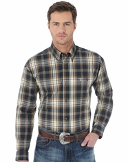 Wrangler Men's 20X Plaid Button Down Shirt - Teal