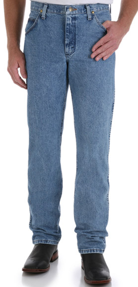 Wrangler Men's 47MWZ Premium Performance Cowboy Cut Regular Fit Jeans - Stonewash