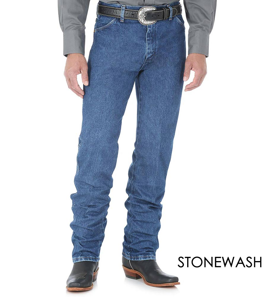 Wrangler Men's Gold Buckle Original Fit Jeans - Stonewash or Bleach