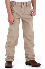Wrangler Original Boys ProRodeo Jeans (Sizes 1T-7) - Prewashed Tan