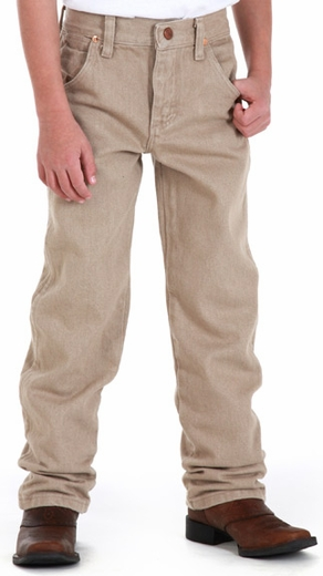 Wrangler Original Boys ProRodeo Jeans (Sizes 1T-7) - Prewashed Tan (Closeout)
