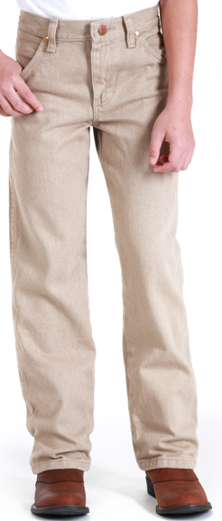 Wrangler Original Boys ProRodeo Jeans (Sizes 8-16) - Prewashed Tan (Closeout)