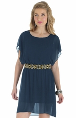 Wrangler Rock 47 Womens Flutter Dress - Navy