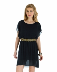 Wrangler Rock 47 Womens Flutter Dress - Black