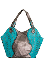 Wrangler Rock 47 Womens Rylee Handbag - Chocolate Shimmer