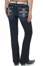 Wrangler Rock 47 Womens Ultra Low Rise Jeans - MS Wash