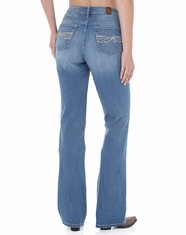 Wrangler Women's Aura Instantly Slimming Mid Rise Jeans - Light Stone