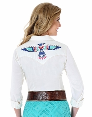 Wrangler Women's Long Sleeve Thunderbird Snap Shirt - Cream (Closeout)